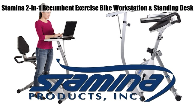 Stamina Recumbent Cycling Workstation