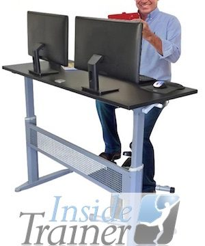 Desk Exercise Equipment. Seated Standing Desk Cycle