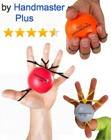 elasticbandhandexerciserwithball