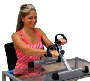 folding arm pedal exerciser