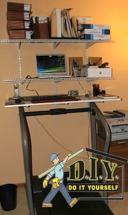 home made treadmill desk