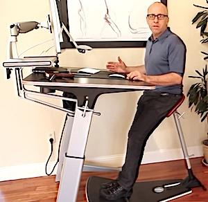 Exercise desk chair - Locus Workstation Review The Inside Trainer Inc