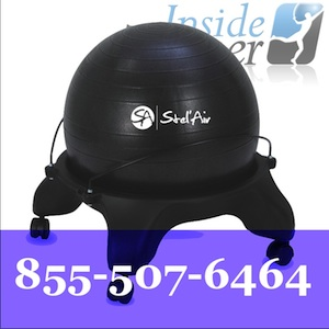 stability office ball chair stelair