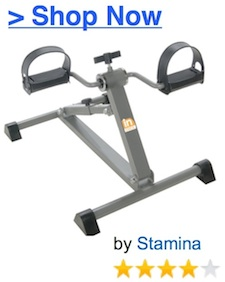 stamina adjustable height under desk pedal bike