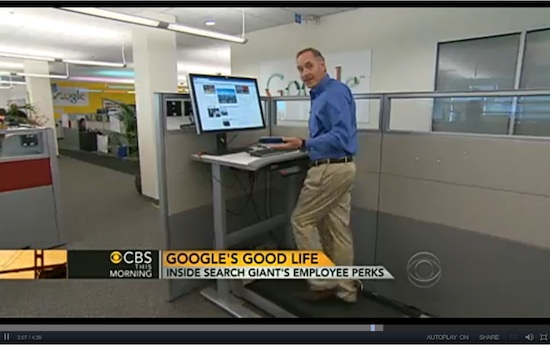 walking desks at google
